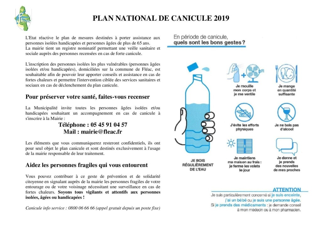 PLAN NATIONAL CANICULE 2019